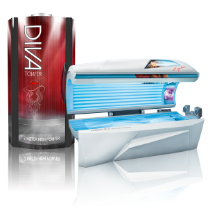 Diva Tower Tanning Bed and a Ergoline Passion 40.3 tanning bed